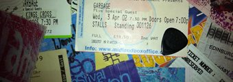 Garbage gig tickets